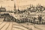 Barokní Olomouc. Část veduty z 1. poloviny 18. století od neznámého umělce