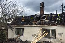 Požár rodinného domu v Nových Valteřicích