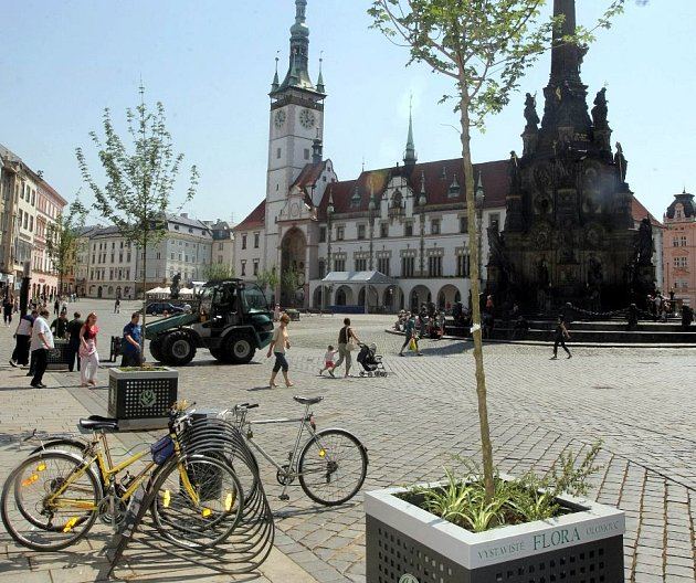 Na Horním náměstí rozmístili mobilní zeleň