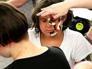 ZUŠ Open: výtvarná akce body painting, kterou zorganizovala ZUŠ Prostějov. Proběhla v altánku prostějovského parku