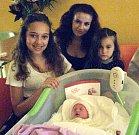 Michaela Kisová, Olomouc, narozena 1. září v Olomouci, váha 2450 g