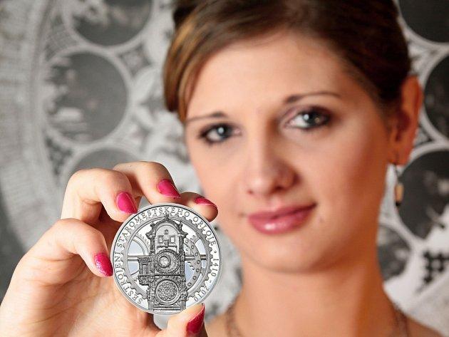 Staroměstský orloj na pamětní minci