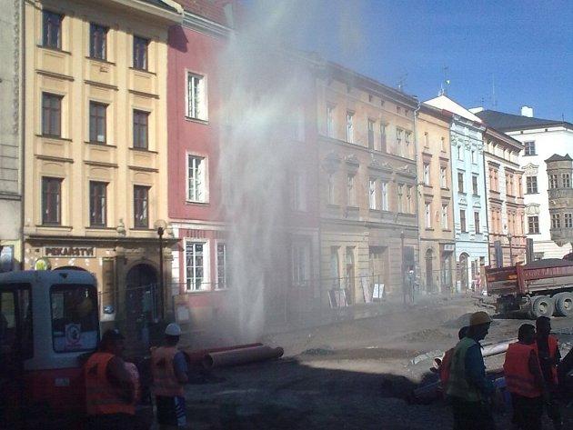 Gejzír na Dolním náměstí v Olomouci