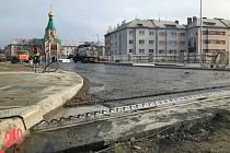 Práce na novém mostě v Komenského ulici. 28. listopadu 2019