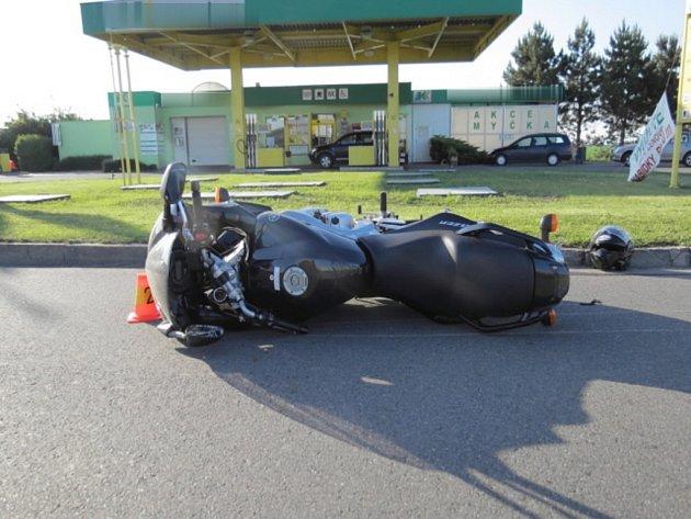 Nehoda motorky u Drahanovic
