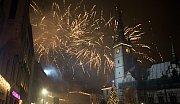 Novoroční ohňostroj 2018 v Olomouci