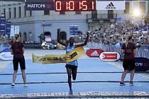 Olomoucký půlmaraton 2017 - vítěz Keňan Kiptis