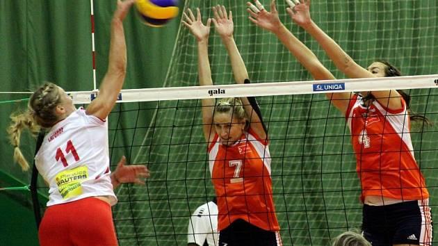 Volejbalistky Olomouce proti Charleroi