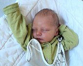 Matyáš Pastyřík, Lomnice u Rýmařova, narozen 25. června ve Šternberku, míra 47 cm, váha 3380 g