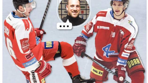 ZMĚNY V KÁDRU? Podle experta Jakuba Koreise měl Aleš Jergl (vlevo) ještě zůstat v Olomouci, zato Jakub Galvas si vybral dobře.