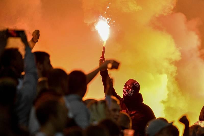 Utkání 8. kola první fotbalové ligy: SK Sigma Olomouc - FC Baník Ostrava 17. září 2021 v Olomouci.