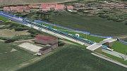 Vizualizace modernizace trati Přerov - Brno