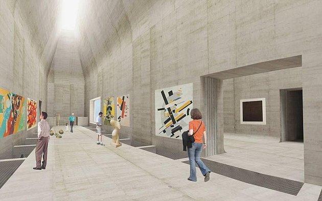 Výstavní prostor Středoevropského fóra vOlomouci - vizualizace