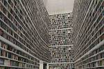 Knihovna v novostavbě Středoevropského fóra - vizualizace