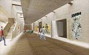 Výstavní prostor Středoevropského fóra v Olomouci - vizualizace