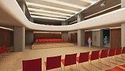 Vizualizace proměny kina Central ve víceúčelový sál v rámci studie SEFO z roku 2009