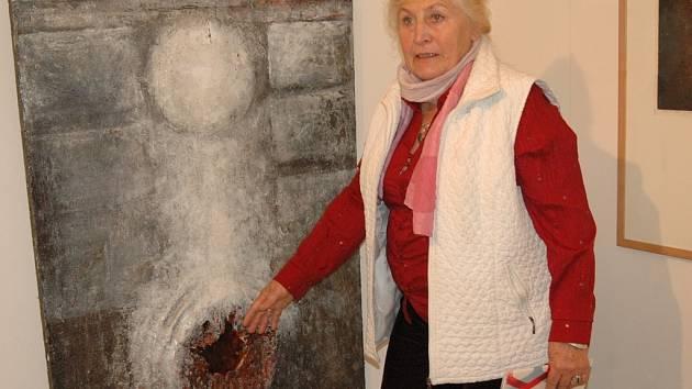 Dana Puchnarová a její obraz.