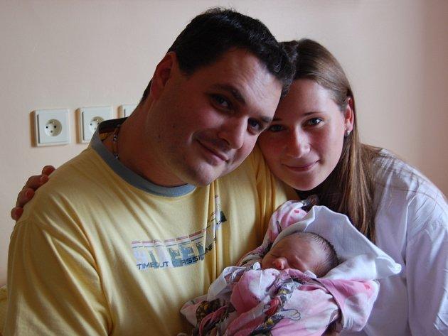 Adéla Kozelková, Olomouc, narozena 7. října v Olomouci, míra 50 cm, váha 2880 g