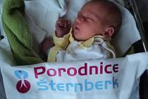 Jan Höchsmann, Mohelnice,narozen 17. prosince,míra 48 cm, váha 3380 g