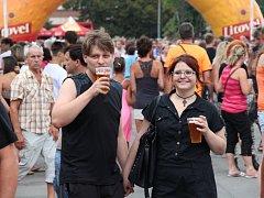 Festival Litovelský otvírák v pivovaru v Litovli