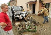 Záplavy ve Skorošicích, pondělní stav