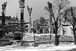 Vypálená a rozbořená olomoucká synagoga