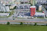 Rozšíření tramvajové trati na Nové Sady a do Slavonína: vizualizace křížení Schweitzerova - Voskovcova ulice