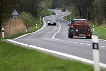 Silnice I/11 v katastru obce Olšany na Šumpersku - nejhorší nová nehodová lokalita za rok 2016