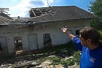 Následky prudké bouřky v Oplocanech