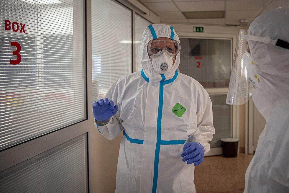 Péče o nemocné s covidem. Ilustrační foto z nemocnice AGEL Ostrava-Vítkovice