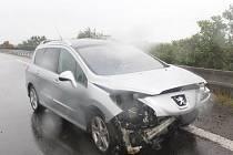 Pondělní nehoda na dálnici D35 u Příkaz