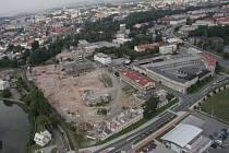 Letecký snímek Šantovky z druhé poloviny roku 2008.