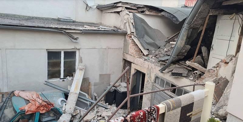 V domě v centru Litovle vybuchl plyn, 25. září 2021