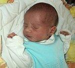 Antonín Churavý, Červená Lhota, narozen 7. února ve Šternberku, míra 47 cm, váha 2870 g