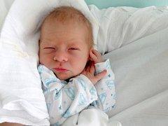 Tobiáš Cáb, Velká Bystřice  narozen 15. května v Olomouci  míra 49 cm, váha 2880 g