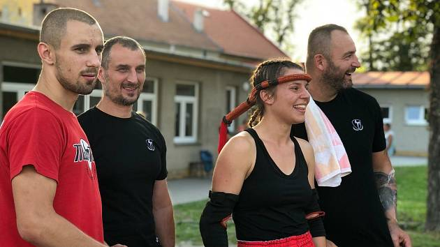 Členové klubu Muay Thai Olomouc.