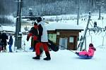 Ski areál Hrubá Voda v sobotu 16. ledna 2021