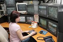 Dispečink kamerového systému na Městské policii Olomouc