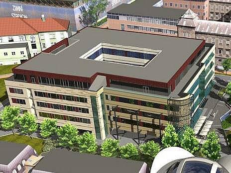 Vizualizace nové polyfunkční budovy v Hynaisově ulici