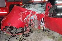 Nehoda mladého řidiče mezi obcemi Tři Dvory a Pňovice