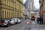 Začala oprava třídy 1.máje v Olomouci.