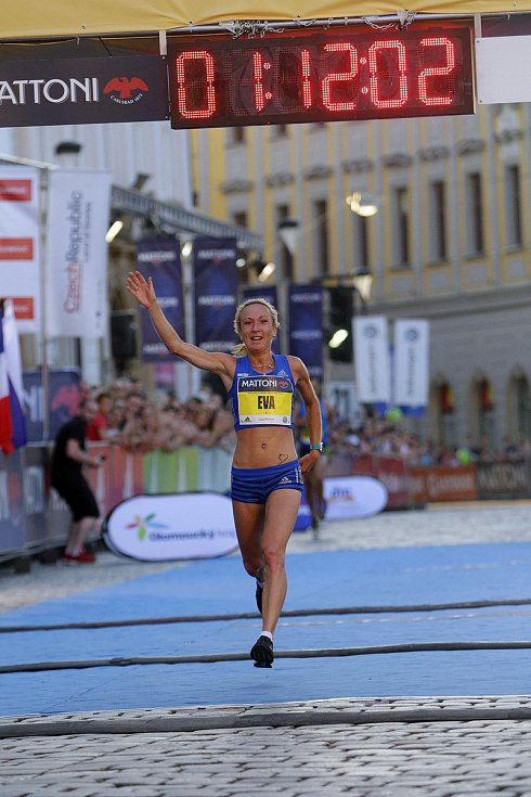 Olomoucký půlmaraton 2017 - nejrychlejší Češka Eva Vrabcová