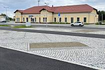 Zrekonstruované přednádraží ve Šternberku, 18. srpna 2021