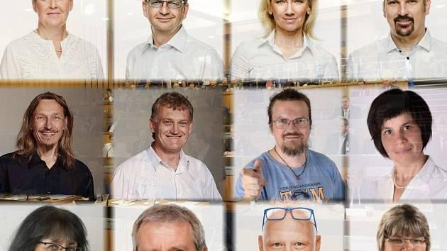 Noví olomoučtí zastupitelé. Ilustrační koláž
