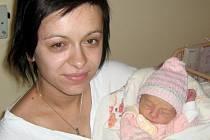 Valerie Mikulková, Odrlice, narozena 31. května v Olomouci, míra 48 cm, váha 2840 g