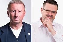 Postupující kandidáti na senátora, zleva: Milan Brázdil (ANO) a Lumír Kantor (za KDU-ČSL)