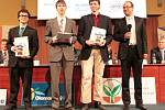 Vítězové kategorie ICT mění naše životy, Matěj Vetešník, Marcel Špaček, Erik Mikeska z Gymnázua ČAjkovského v Olomouci