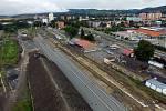 Modernizace regionální trati v Olomouckém kraji.Železniční stanice Šternberk.