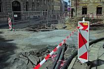 Oprava Olomoucké ulice v centru Šternberka