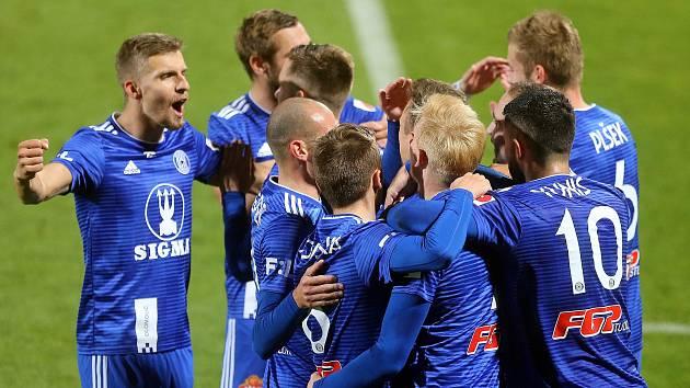 Radost fotbalistů Sigmy. Ilustrační foto